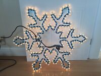 Christmas lights - snowflake (for indoor and outdoor use)