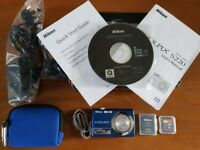 Nikon Coolpix S220 Camera in Excellent Condition - Boxed