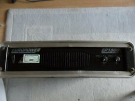 beringer europower ep1500 power amp with flight case