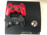 PS3- console + 2 remote 1TB + 13 games
