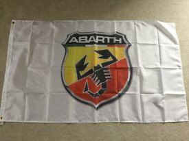 Fiat Abarth 500 workshop flag banner