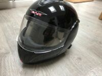 Flip Face Crash Helmet Motorcycle Black L 59/60 Bluetooth