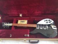 Rickenbacker 320 Guitar vintage black beatles lennon fender