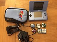 Nintendo DS with 2 chargers and 6 games