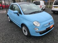 ** SEPT 2013 FIAT 500 LOUNGE RHD - Pan Roof - Low Miles - FSH ** ( smart bmw ford vauxhall )