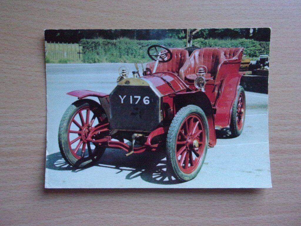 VINTAGE 1903 MERCEDES TONNEAU. CLASSIC CARS. VERY CLEAN REAL PHOTOGRAPH POSTCARD.