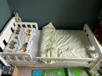 SOLD John Lewis toddler bed , mattress and roll bar