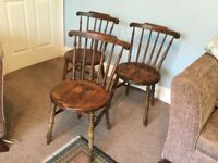 Three Oak Traditional Dining Room Chairs Good condition
