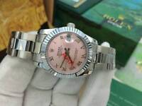 LADIES Rolex Datejust Pink Dial Stainless Steel