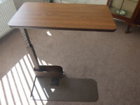Over chair/bed swivel table.