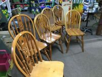 Six chairs, good condition £50