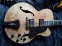 V.RARE Unused Ibanez Birdseye Maple 1of6 Artcore AF105BM-NT Limited Edition Guitar SWAP Car Van