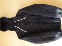 Topman Navy Jacket with Hood size Small