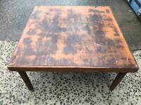 Vintage fold away card table FREE DELIVERY PLYMOUTH AREA
