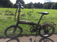 "Carrera Crosscity Womens Mens Unisex Electric Bike 20"" Wheels Alloy Frame"