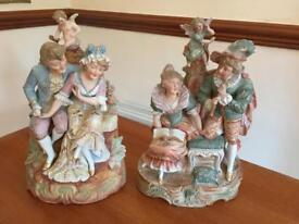 Set of two figurine ornaments