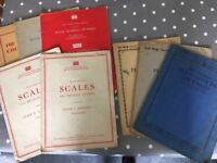 1960's piano music papers. Mrs Curwers pianoforte method step 1 to 3. Good condition