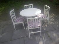 shabby chic round table chairs drop leaf space saving