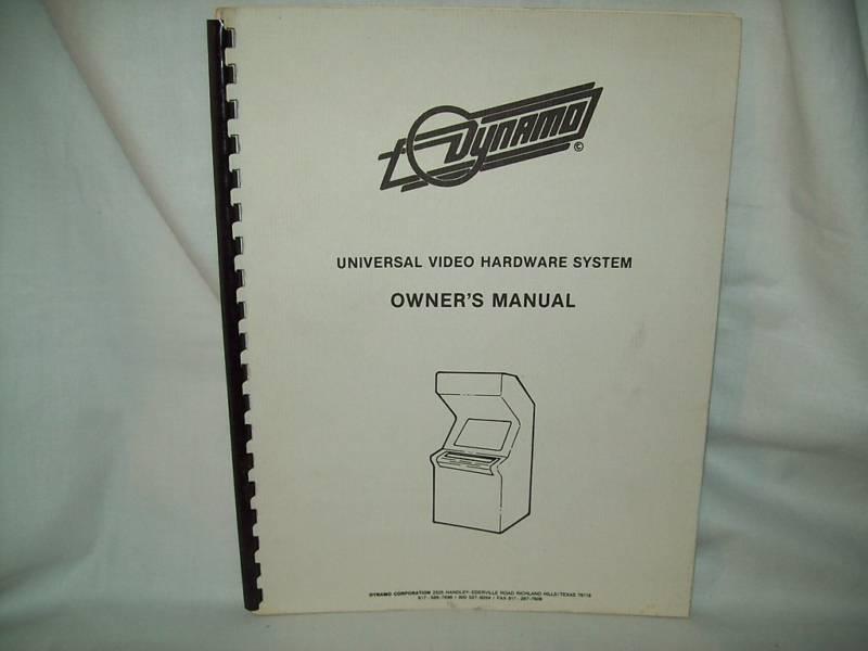 Dynamo Arcade Game Manual Original