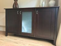 Storage Cabinet & Side Tables (Solid Dark Wood )