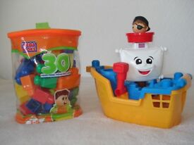 Mega bloks pirate ship and starter block set