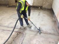 Latex floor, sand and cement screed, renovation screed.