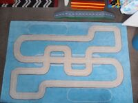 Large Habitat Car /Racing Rug Designed by Damon Hill, as new