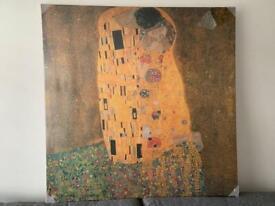 Gustav Klimt print of The Kiss - never used
