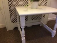 wooden chunky table shabby chic project