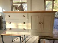 Solid pine tv unit/ cupboard / chest of drawers