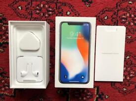 iPhone X 64gb-Silver- Factory Unlocked- Brand New/Unused Accessories
