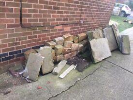 Yorkshire stone blocks & paving slabs