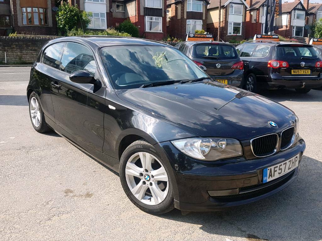 2008 bmw 1 series 118d se manual 3 door black long mot f s h hpi clear good runner in dewsbury. Black Bedroom Furniture Sets. Home Design Ideas