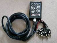 Studio snake, multicore, cables XLR & jacks