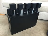Bose Acoustimass 10 II Speaker System with 4 Speaker Stands