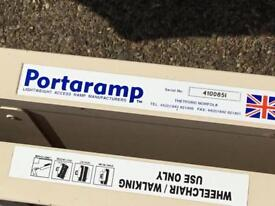 Wheelchair ramps, portable and folding