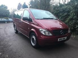 2010 MERCEDES VITO 111 CDI LONG WHEELBASE 9 SEATER FSH HPI CLEAR