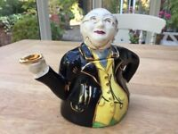 Vintage Lingard Pottery - Mr Pickwick Proposes A Toast Teapot 1920s