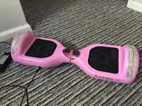 Pink Segway hoverboard diamanté bling !!