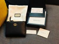 Genuine Gucci GG Marmont Leather Wallet in Black