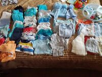 Box of boys baby clothes