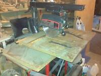 "10"" Radial arm saw by Craftsman"
