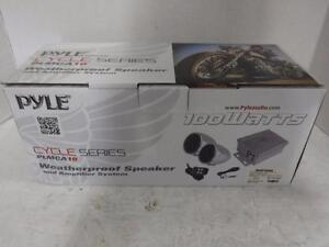 Pyle Motorcycle Sound Pack w. FM Radio PLMCA10. We Buy And Sell Used Audio Equipment. 28220*