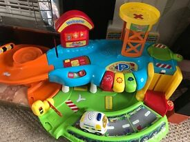 Vtech play car garage