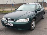 Honda Accord 2.0 VTEC 2001 + FULL SERVICE HISTORY + JUST 64,000 MILES + DRIVES SUPERB