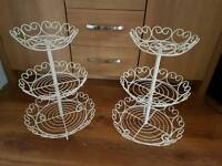 Cupcake stands x2 ( will sell separately)