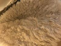 Large faux sheepskin rug 190 x 290cm
