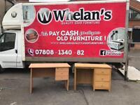 Oak wood desk £35- beechwood desk £25
