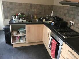 Kitchen units and free hob and fridges