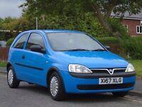 Vauxhall Corsa 1.0 i 12v Expression 3dr£499 FULL MOT,LOW TAX,LOW INSURANCE